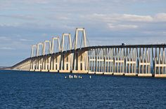 The General Rafael Urdaneta Bridge is located at the outlet of Lake Maracaibo, in western Venezuela.