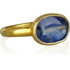 Pippa Small 18-karat gold kyanite Greek ring ($2,505) found on Polyvore
