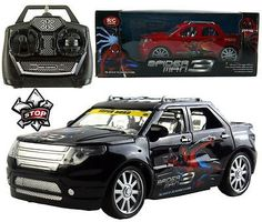 cool new 4ch spiderman electric rc radio remote control car kid children boy toy gift