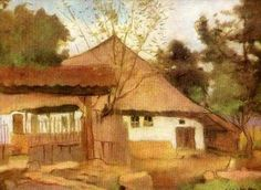 Casa din Brebu - Stefan Luchian Subic, Romania, Fine Art, Matisse, House Styles, Painters, Watercolor, Drawing, Frame