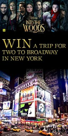 #RePin to #Win a #Trip for 2 to Broadway in New York! #competition #travel