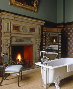 Grand bathroom at Eastnor Castle