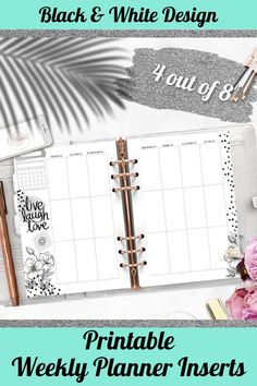 Save your time and money on searching stickers for your fabulous planner. These Printable Planner Inserts are everything what you need to have and it's avalaible in one click only.