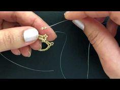 Beaded Earrings.Herringbone Stitch - YouTube