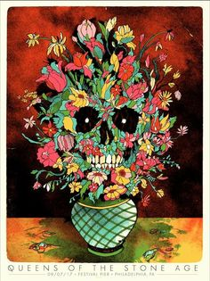 Queens of the Stone Age Philadelphia Poster by Ivan Minsloff