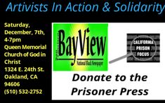 """PRISONER ART AUCTION See and buy the donated works of prisoners from behind the wall in their support of two prison newsprint publications, """"California Prison Focus"""" and """"San Francisco Bay View"""" For. C Note, Prison Art, Tag People, Power Of Social Media, Google Search Results, Playwright, Criminal Justice, Art Auction, To Tell"""