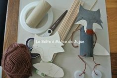 Pantin Loup !!! Diy And Crafts, Crafts For Kids, Arts And Crafts, Bricolage Halloween, Marionette, Autism Activities, Red Party, Pinocchio, Little Pigs