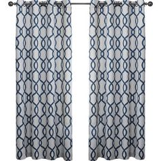 Skyline Geometric Grommet Curtain Panel (Set of 2)