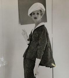 Werle Glam Fashion Model Couture Designer Chic Dress BW Photo Vtg Hollywood H