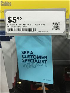 See Customer Specialist Front Tag Detail Signage, Hooks, Retail, Fish, Spaces, Tags, Blue, Color, Ideas