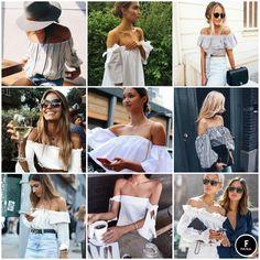 #Tendencia2017 Out off shoulder o blusas cuello bandeja son las preferidas por todas gracias a su increíble manera de resaltar una de las partes mas sexies del cuerpo.