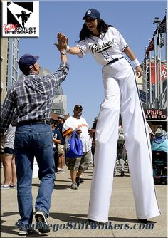 San Diego Padres stilt walker, San Diego Spotlight Entertainment