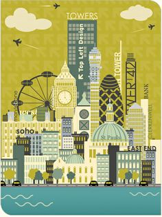 London, through the style of Tina Webster