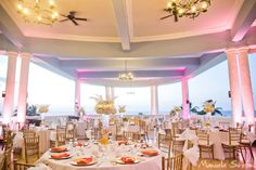 Wedding reception with gorgeous views at The Blue Lagoon #JamaicaWedding