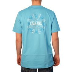 Southern Point Crab Boil T-Shirt in Blue