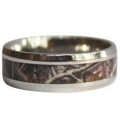 Working Manu0027s Camo Ring | Mens Camo Wedding Ring U2013 Antler Rings