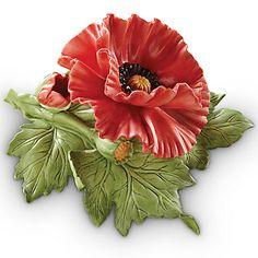 LENOX Figurines: Flowers - Red Poppy Figurine