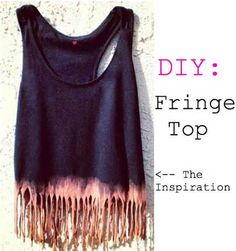 CUTE!!! what you do is take any tank, cut the bottum and pull each of them to stretch them and then bleach the fringe!!!