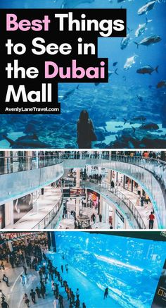 Dubai Tourist Attractions: The best things to see in the Dubai Mall! Avenlylanetravel.com #Dubai #travel
