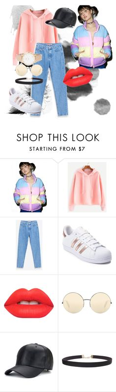 """""""Senza titolo #26"""" by lisabecce ❤ liked on Polyvore featuring beauty, Lazy Oaf, adidas, Lime Crime, Victoria Beckham, Humble Chic and Kate Spade"""