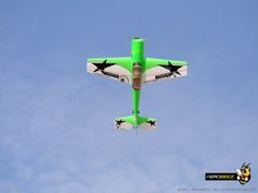 """73"""" 26% Yak-54 30cc Gas 3D Aerobatic ARF RC Airplane Green with Aerobeez and RC Thrasher decals"""