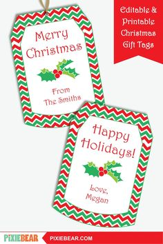 Christmas Gift Tags - Printable Christmas Labels, Personalized To From Tag, Editable Holiday Tags Template, Christmas Teacher Tags for Kids Christmas Gift Tags Template, Christmas Labels, Christmas Printables, Handmade Christmas, Christmas Gifts, Party Printables, Holiday, Printable Tags, Amazing