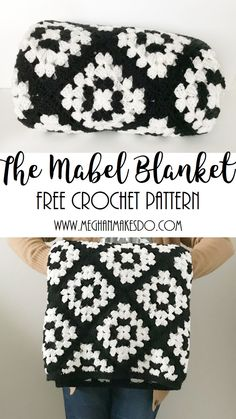 crochet pattern free, blanket pattern, crochet blanket pattern, black and white blanket, free pattern, free crochet pattern