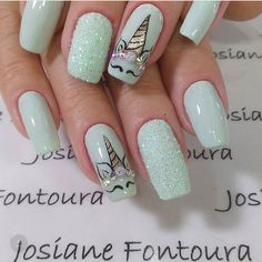 nail designs for fall nail designs for short nails 2019 best nail stickers nail art stickers walmart full nail stickers nail designs for short nails nail designs for short nails easy essie nail stickers nail art stickers at home full nail stickers Diy Unicorn, Unicorn Nail Art, Love Nails, How To Do Nails, Pretty Nails, Acrylic Nail Designs, Nail Art Designs, Acrylic Nails, Unicorn Nails Designs