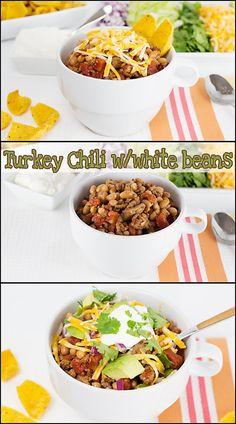 Turkey Chili with White Beans   www.joyineveryseason.com