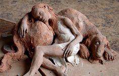 Fanny Ferré Dog Sculpture, Ferrat, Garden Art, Art Decor, Sculpting, Pottery, Ceramics, Statue, Artwork