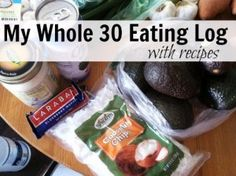 Whole 30 Eating Log with Recipes