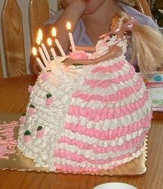 Wrecky Replay: Come On Barbie, Let's Go Party — Cake Wrecks Barbie Birthday Cake, 21st Birthday Cakes, Homemade Birthday Cakes, Barbie Cake, 21 Birthday, Birthday Images, Birthday Quotes, Funny Birthday, Barbie Doll