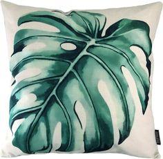 Monstera Leaf Kussenhoes | Katoen/Linnen | 45 x 45 cm Leaves, Beige, Throw Pillows, Pictures, Toss Pillows, Cushions, Decorative Pillows, Decor Pillows, Ash Beige