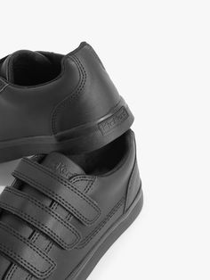 This sneaker-inspired shoe in matte black leather brings Kickers renowned robustness with a sporty bumper and outsole for long-lasting wear. Built on Kickers iconic sole unit, it fastens with three riptape straps, so the fit can be adjusted to suit your feet. You'll find iconic Kickers branding on the tongue for an instantly recognisable look. With a low profile, sleek shape and slip resistant sole, the Tovni Trip is ready to go, wherever you choose to take it. Kickers Shoes, Shoes Heels, John Lewis Shops, School Shoes, Rubber Shoes, Childrens Shoes, Casual Boots, French Fashion, Types Of Shoes