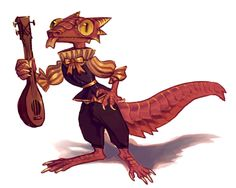 a kobold bard i made for.. a thing  ultimate dumbass Update: her name is kiki