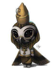 Lil' Thoth, Sobek, Bastet, Anubis, and Horus by Egyptian Mythology, Egyptian Art, Egyptian Jackal, Egyptian Isis, Chibi, Drawn Art, Gods And Goddesses, Mythical Creatures, Ancient Egypt