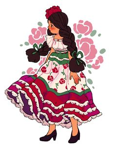 mexican girl character character girl female female vector rh pinterest com Mexican Girl Cartoon Dope Mexican Girl Cartoon Characters