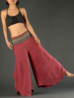 Extra Soft Palazzo Pants with Thai Cotton Front - Forgotten Tribes