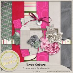 Free scrapbook kit True Colors... Contains 6 papers and 14 elements Watch my blog for more freebies...