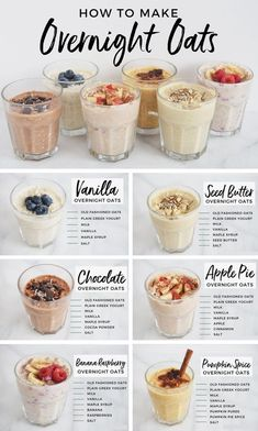Meal prep just got easier with this collection of 6 simple, delicious and healthy overnight oat recipes! Perfect for on-the-go, these recipes won't disappoint! # Easy Recipes healthy 6 Overnight Oats Recipes You Should Know For Easy Breakfasts — Andianne Comidas Fitness, Snacks Saludables, Think Food, Oats Recipes, Porridge Recipes, Almond Milk Recipes, Crockpot Recipes, Soup Recipes, Drink Recipes