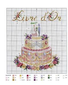 ru / Photo # 14 - Help yourself! Cupcake Cross Stitch, Cross Stitch Love, Counted Cross Stitch Patterns, Cross Stitch Charts, Cross Stitch Embroidery, Embroidery Patterns, Wedding Cross Stitch, Cross Stitch Kitchen, Le Point