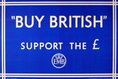 Support the Pound Empire Marketing Board EMB 1930s - original vintage poster listed on AntikBar.co.uk