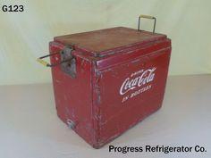 VINTAGE DRINK COCA COLA COKE SODA POP DRINK PROGRESS REFRIGERATOR PICNIC COOLER #CocaCola