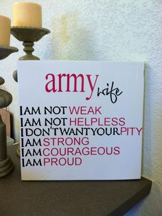 Army Wife SIgn  ** Custom Made By Kara's Custom Memories ** To order visit my FB... www.facebook.com/kcmcreativememories