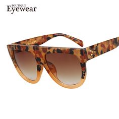 BOUTIQUE Woman Flat Top Mirror Sun Glasses Cat Eye Sunglasses French brand oculos De Sol Oh Yeah #shop #beauty #Woman's fashion #Products #Classes
