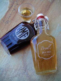 glass groomsmen flasks - Best Groomsmen Gifts
