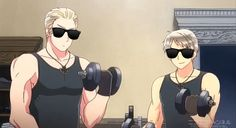 cool german brothers working out together