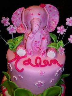 Lilly Pulitzer birthday cake by sandrascakes (trying to catch up!), via Flickr   Is this not the cutest dang thing.