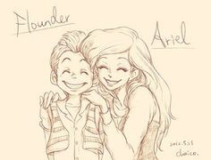 Ariel and Flounder by *chacckco on deviantART