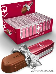 Victorinox Chocolate Knife / Big box with Victorinox Chocolate Knives. Swiss quality chocolate tastes excellent!